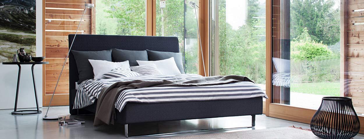 hochwertige betten boxspring betten von designern gute matratzen. Black Bedroom Furniture Sets. Home Design Ideas