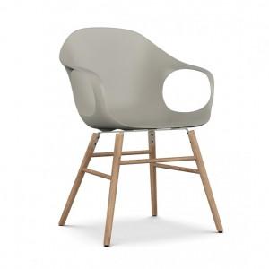 KRISTALIA Stuhl Elephant chair Sitzschale beige Gestell eiche