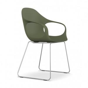 KRISTALIA Stuhl Elephant chair Sitzschale grün Kufengestell chrom