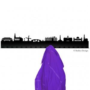 RADIUS DESIGN Städtegarderobe Amsterdam Stahl schwarz