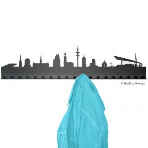 RADIUS DESIGN Städtegarderobe Hamburg Stahl schwarz