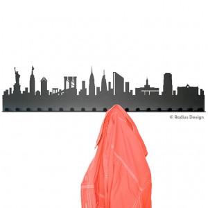 RADIUS DESIGN Städtegarderobe New York Stahl schwarz