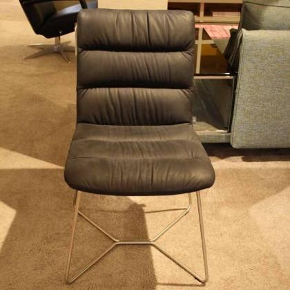 BACHER Stuhl Bellino soft Leder schwarz