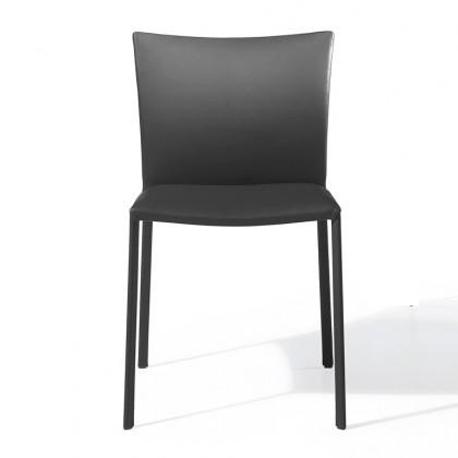 DRAENERT 2076 Stuhl Nobile Soft Hochlehner Leder schwarz