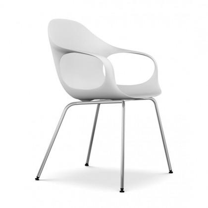 KRISTALIA Stuhl Elephant chair Sitzschale weiß Gestell chrom
