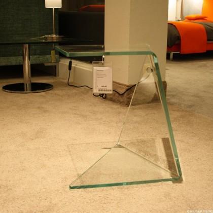 DREIECK Beistelltisch Assito Glas