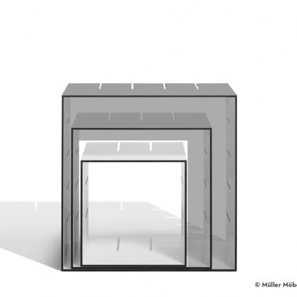 MÜLLER MÖBELWERKSTÄTTEN Standregal Konnex Einzelbox klein HPL weiß/schwarz