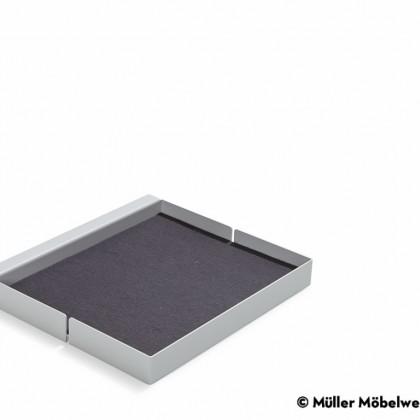MÜLLER MÖBELWERKSTÄTTEN Ablage quadrat weiß zu Bett Flai