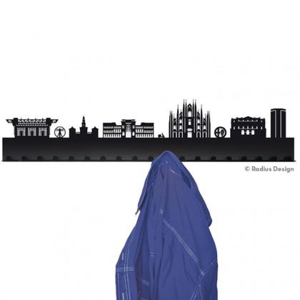 RADIUS DESIGN Städtegarderobe Mailand Stahl schwarz