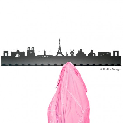 RADIUS DESIGN Städtegarderobe Paris Stahl schwarz