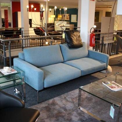 BIELEFELDER WERKSTÄTTEN Sofa Spirit Stoff blau
