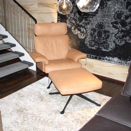DE SEDE Sessel und Hocker DS-0031 Leder braun