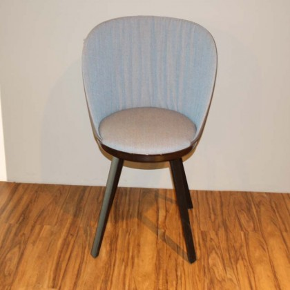 FREIFRAU Sessel Romy Chair Leder/Stoff anthrazit