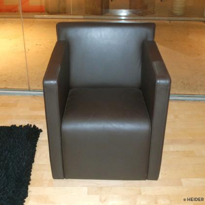 COR Sessel Quant mit Rollen Leder braun