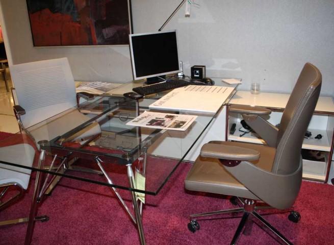 DAUPHIN HOME Lowboard mit Schreibtisch Modul Space Lack weiß