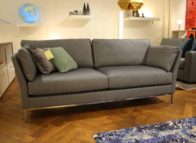 IP DESIGN Sofa 2,5-sitzig Jon Edwards Stoff grau