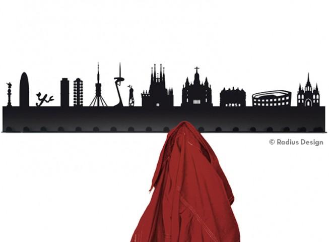 RADIUS DESIGN Städtegarderobe Barcelona Stahl schwarz