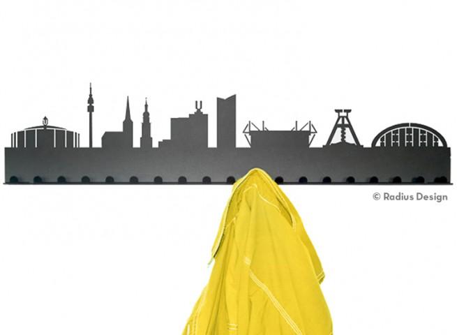 RADIUS DESIGN Städtegarderobe Dortmund Stahl schwarz