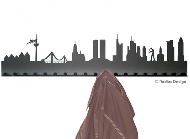 RADIUS DESIGN Städtegarderobe Frankfurt am Main Stahl schwarz