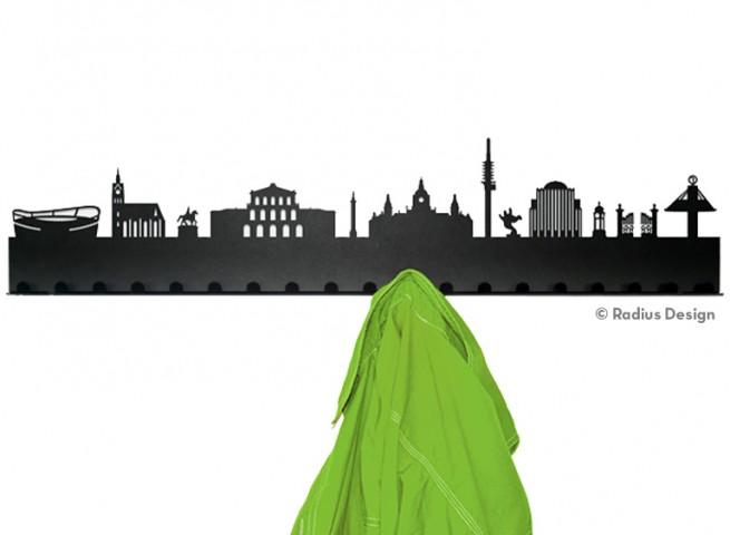 RADIUS DESIGN Städtegarderobe Hannover Stahl schwarz