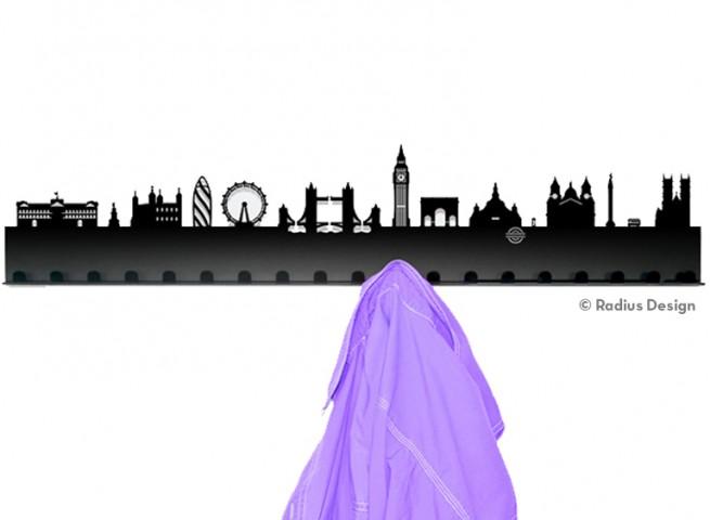 RADIUS DESIGN Städtegarderobe London Stahl schwarz