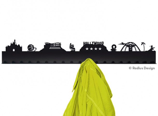RADIUS DESIGN Städtegarderobe Los Angeles Stahl schwarz