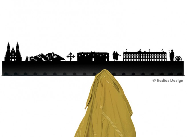 RADIUS DESIGN Städtegarderobe Santiago de Compostella Stahl schwarz