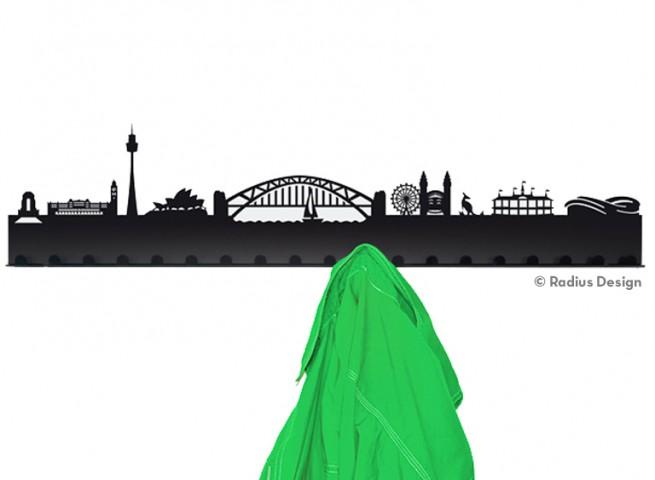 RADIUS DESIGN Städtegarderobe Sydney Stahl schwarz