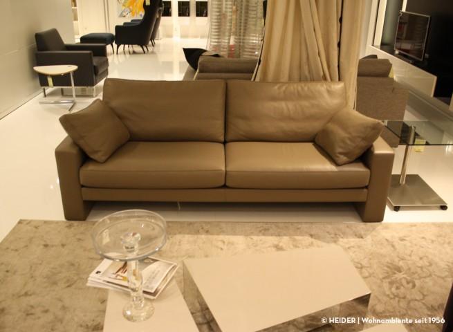 FSM Sofa Claro 2,5-sitzig Leder braun