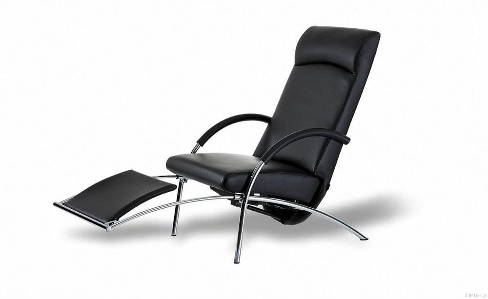 ip design relaxsessel curve leder. Black Bedroom Furniture Sets. Home Design Ideas