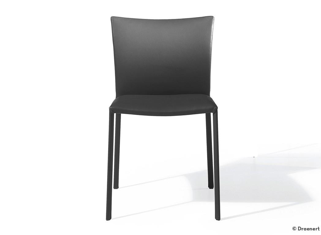 draenert 2076 stuhl nobile soft hochlehner leder schwarz. Black Bedroom Furniture Sets. Home Design Ideas