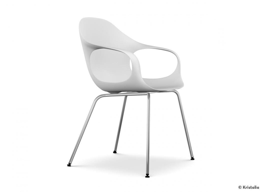 kristalia stuhl elephant chair sitzschale wei gestell chrom. Black Bedroom Furniture Sets. Home Design Ideas
