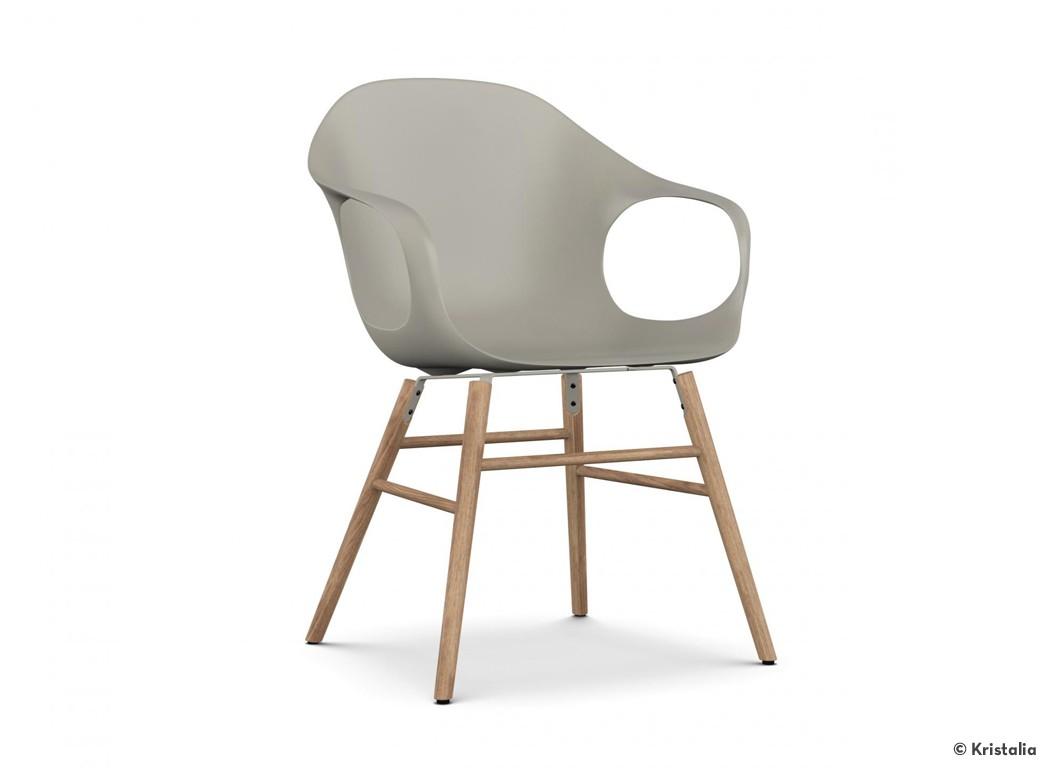 kristalia stuhl elephant chair sitzschale beige gestell eiche. Black Bedroom Furniture Sets. Home Design Ideas
