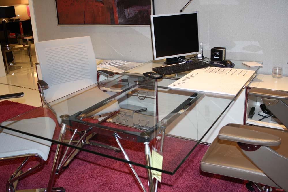 dauphin home lowboard mit schreibtisch modul space lack wei. Black Bedroom Furniture Sets. Home Design Ideas