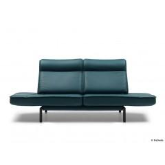 de Sede-DE SEDE Sofa DS-450/02 Leder Living black Gestell schwarz-01