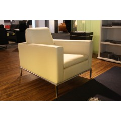 de Sede-DE SEDE Sessel DS-4/01 Leder weiß-01