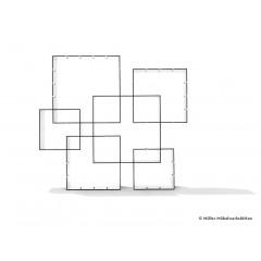 Müller Möbelwerkstätten-MÜLLER MÖBELWERKSTÄTTEN Wandregal Konnex 3er-Set HPL weiß/schwarz-01