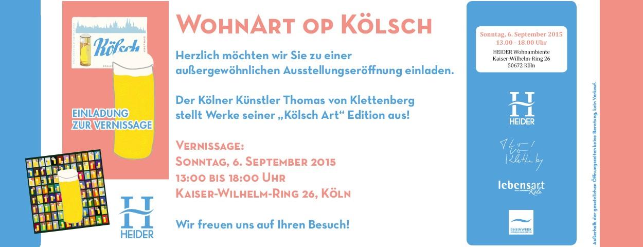 WohnArt op Kölsch - Thomas von Klettenberg