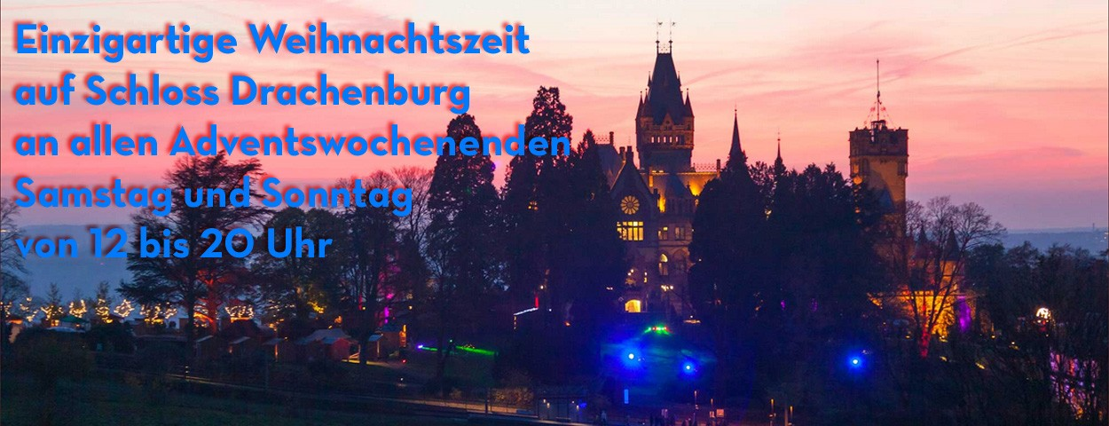 Einzigartige Weihnachtszeit auf Schloss Drachenburg
